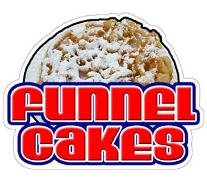 Funnel Cakes Concession 36 Decal Sign Cake Signs Cart Trailer Stand Sticker