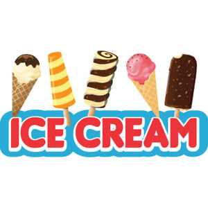 Ice Cream 2 36 Concession Decal Sign Cart Trailer Stand Sticker Equipment