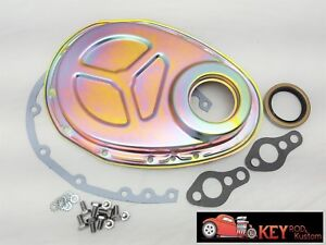 Small Block Chevy Zinc Timing Chain Cover Kit Gasket Bolts 350 400 305 Roller