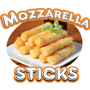 Mozzarella Sticks 36 Concession Decal Sign Cart Trailer Stand Sticker Equipment