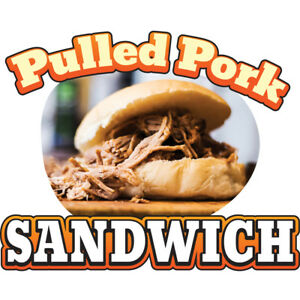 Pulled Pork 36 Concession Decal Sign Cart Trailer Stand Sticker Equipment