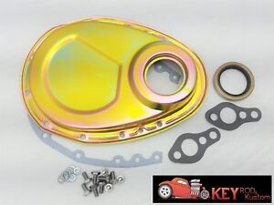 Small Block Chevy Zinc Timing Chain Cover Kit Gaskets Bolts 350 400 327 305 307