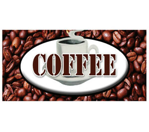 Coffee 48 Decal Shop House Sign Cafe Beans Hot Machine New Cart Trailer Stand
