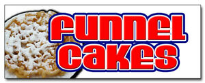 48 Funnel Cakes Decal Sticker Cake Concessions Fair Supplies Equipment