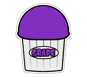 Grape Flavor Italian Ice 48 Decal Shaved Ice Cart Trailer Stand Sticker