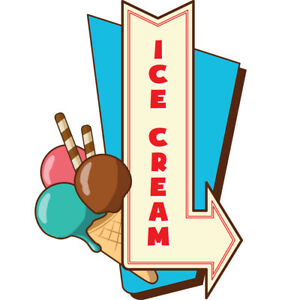 Ice Cream 4 48 Concession Decal Sign Cart Trailer Stand Sticker Equipment