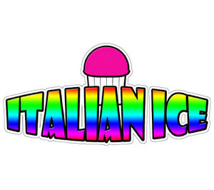 Italian Ice I Concession 48 Decal Menu Cart Trailer Stand Sticker Equipment
