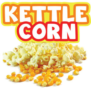 Kettle Corn 48 Concession Decal Sign Cart Trailer Stand Sticker Equipment