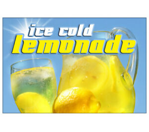 Lemonade I Concession 48 Decal Drink Sign Signs Cart Trailer Stand Sticker