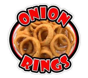 Onion Rings Concession 48 Decal Sign Fried Ring Cart Trailer Stand Deep