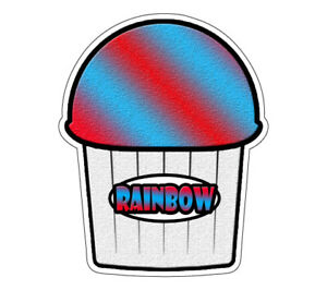 Rainbow Flavor Italian Ice 48 Decal Shaved Ice Swirl Cart Trailer Sticker