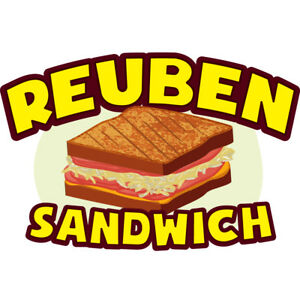 Reuben Sandwich 48 Concession Decal Sign Cart Trailer Stand Sticker Equipment