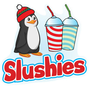 Slushies 48 Concession Decal Sign Cart Trailer Stand Sticker Equipment