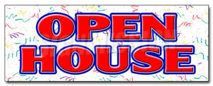 48 Open House Decal Sticker For Sale Broker Apartment Home House Real Estate