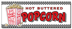 48 Popcorn Decal Sticker Stand Cart Concession Equipment Pop Corn