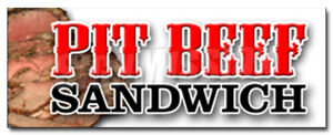 48 Pit Beef Sandwich Decal Sticker Bbq Smoked Meat Beef Grilled Restaurant