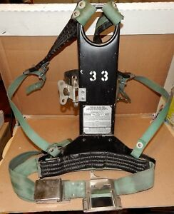 Msa Model 401 Air Harness Air Tank Holders Backplate Cyl Strap Fire Fighter 171r
