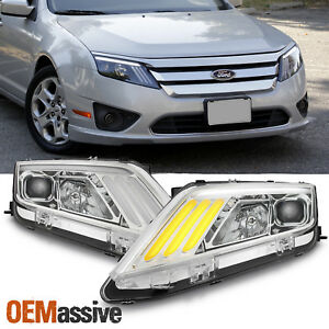 Fit 2010 2012 Ford Fusion Drl Led Sequentia Signal Projector Headlights 10 11 12