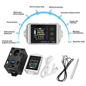 Wireless Dc 0 400v 0 300a Voltage Current Watt Power Capacity Lcd Combo Meter