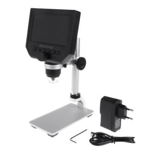 New Digital Microscope Hd 1 600x Magnifier 4 3 Lcd Screen Tool 1080p