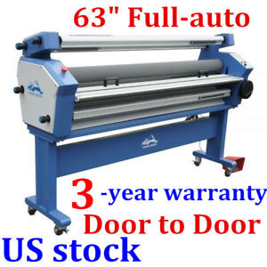 Usa Upgraded 63 Full auto Cold Laminator Roll To Roll Wide Format Laminator