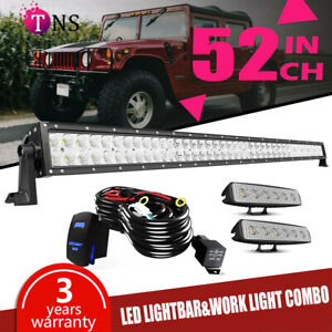 52inch 700w Led Work Light Bar 4 Pods Offroad For Jeep Wrangler Yj tj jk jl