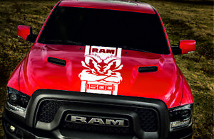 Dodge Ram 1500 1x Hood Decal Graphics Vinyl Body Decal Hood Stripe Sticker Logo