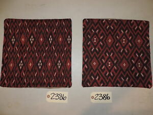 Set Of 2 Vintage Authentic Turkish Kilim Wool Pillow Covers