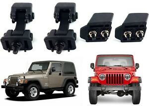 Replacement Hood Latch Catch Set With Brackets For 1997 2006 Jeep Wrangler Tj