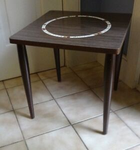60s 70s Vntg Mcm Inset Mosaic Tile Wood Side End Coffee Table Mccobb Eames Era