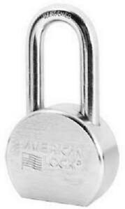 American Lock 2 1 2 Inch Chrome plated Steel 5 pin Keyed alike Padlock
