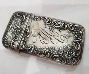 Art Nouveau Sterling Silver Match Safe Vesta Case Grams