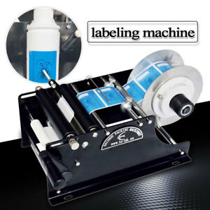 Semi automatic Round Bottle Label Paste Labeling Machine Labeler Electric Manual