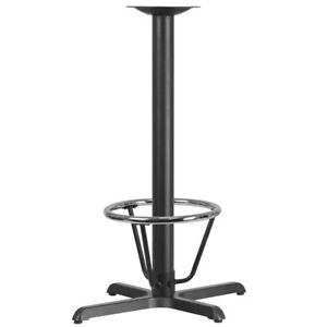 22 X 30 Restaurant Table X base With 3 Dia Bar Height Column And Foot