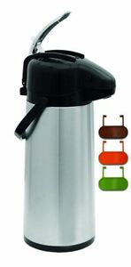 Coffee Dispenser Air Pot Thermos Thermal Hot Cold Beverage Carafe Pump 2 2 Liter