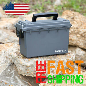 Ammo Box Cases Ammunition Storage 30 Caliber Waterproof Can Plastic Field Crate