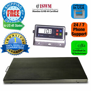 New 700lb X 0 1lb 44 x22 Animal Scale Vet Scale Pet Scale W Hold Button