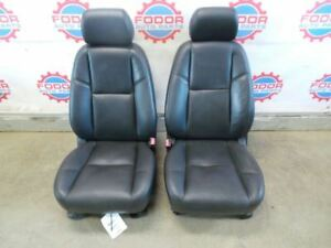 07 08 Cadillac Escalade Black Leather Heated Front Seats Pair