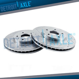 Front Drilled Slotted Rotors 1994 2000 2001 2002 2003 2004 Ford Mustang Gt Base