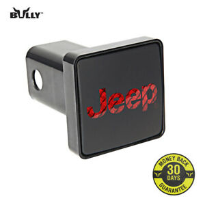 Bully Black 2 Car Hitch Cover With Brake Light For Jeep Cr 007j