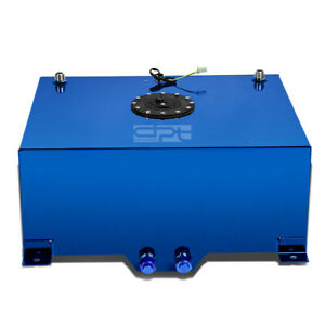 20 Gallon Lightweight Blue Coat Aluminum Race Drift Fuel Cell Tank Level Sender
