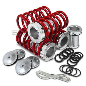 Honda Scaleed Adjustable 1 4 Lowering Suspension Red Coilover Coil Springs