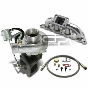 Mirage 1 8 Stainless Manifold T3 T4 63 Turbo Internal Wastegate Oil Feed Line