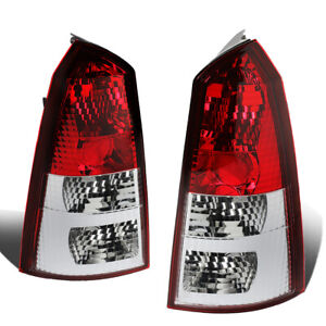 Fit 02 07 Ford Focus 5dr Wagon Pair Chrome Red Tail Light Brake Reverse Lamps