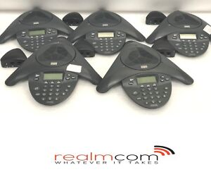 Lot Of 5 Cisco Cp 7936 Conference Phone W 5 Power Triangles Cisco 7936
