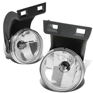 Fit 94 98 Dodge Ram Truck Pair Clear Lens Front Bumper Driving Fog Light Lamps