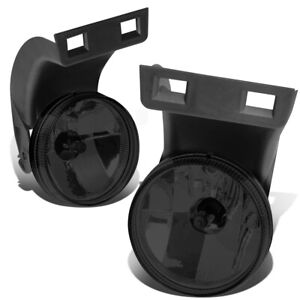 Fit 94 98 Dodge Ram Truck Pair Smoked Lens Front Bumper Driving Fog Light Lamps