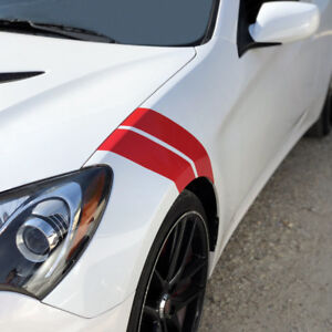 Fender Hash Stripes Decals For 2012 2013 2014 2015 2016 Hyundai Genesis Coupe