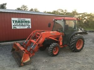 2004 Kubota L3430 4x4 Hydro Compact Tractor W Cab Loader