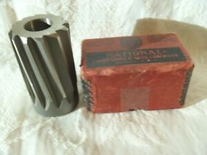National Twist Drill 2 s H S Shell Reamer Collectible Vintage W box Rochester